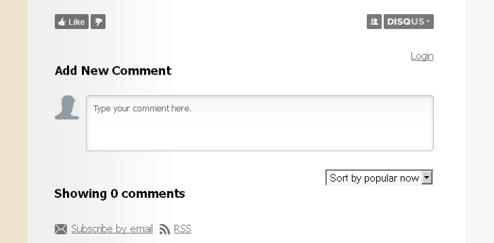 Disqus Comments and Thematic