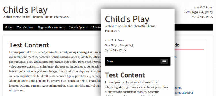 Child's Play Responsive Theme Image