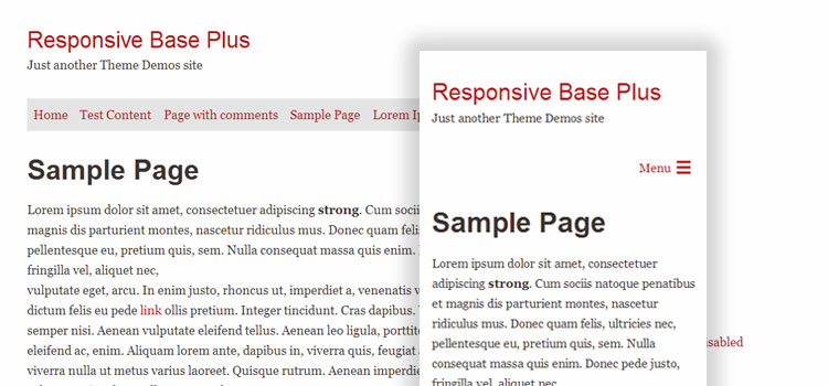 Responsive Base Plus Demo