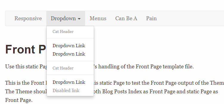 Responsive Base Plus with Bootstrap 3 Menu